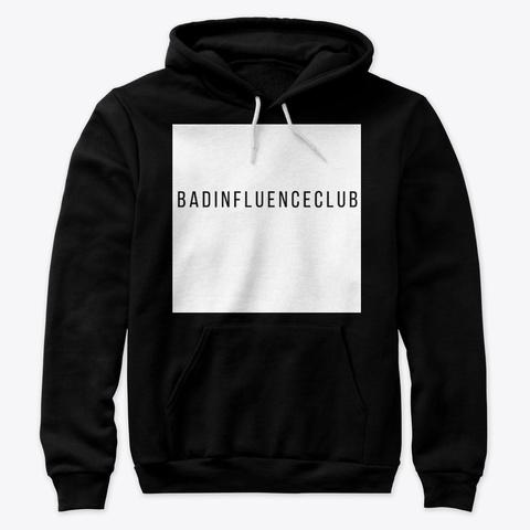 "Badinfluenceclub ""Whitebox"" Collection Black T-Shirt Front"