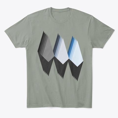 Mountain Abstract Art Shirt Canvas Grey T-Shirt Front