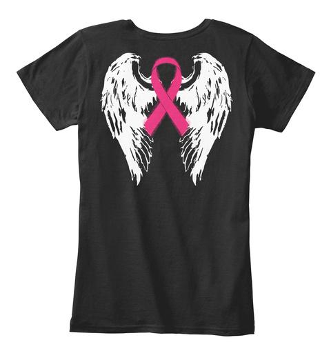 Breast Cancer Awareness Ribbon T Shirt! Black Women's T-Shirt Back
