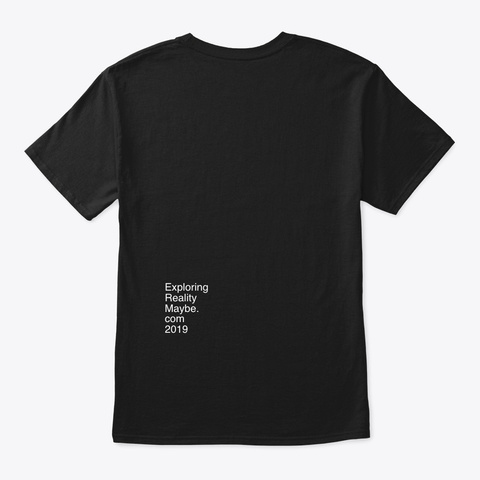 Money + Social Impact = Life Black T-Shirt Back