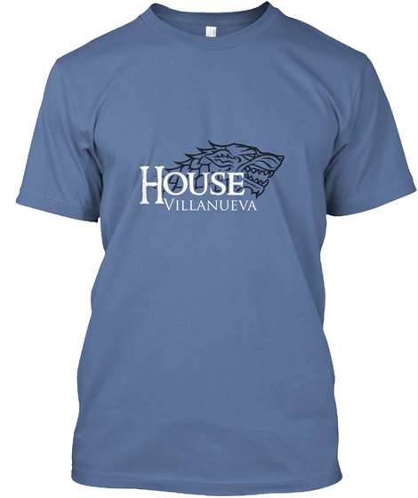 Villanueva Family House   Wolf Denim Blue T-Shirt Front