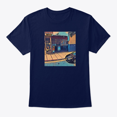 200 Block Music Gear Navy T-Shirt Front