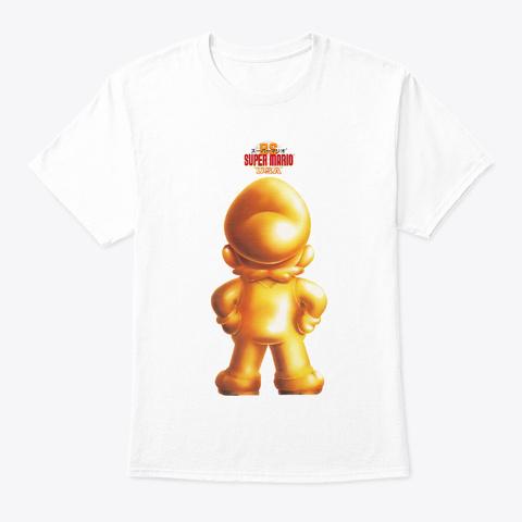 Golden Statue Rear White T-Shirt Front