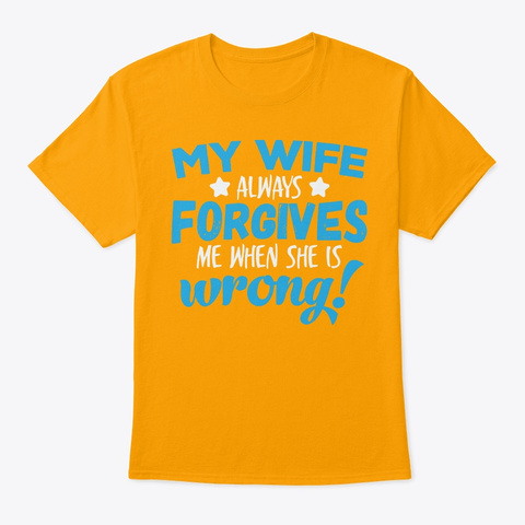 Best Romantic Gift For Husband On Annive Gold T-Shirt Front
