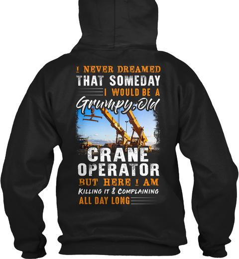 Crane Operator Christmas Special Black T-Shirt Back