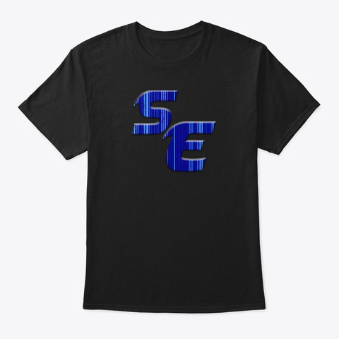 Se Logo T Shit Black T-Shirt Front