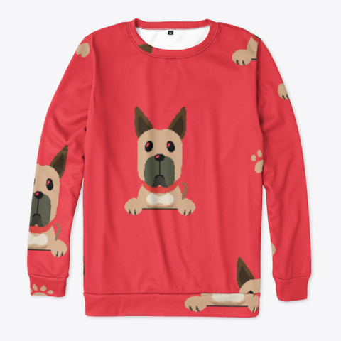 Red Cute Great Dane Sweatshirt Standard T-Shirt Front