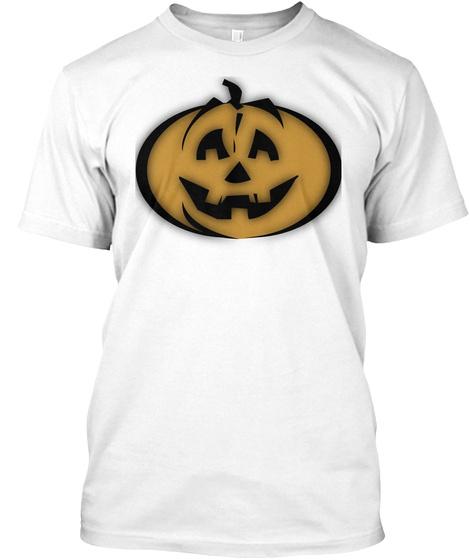 Jack O Lantern White T-Shirt Front