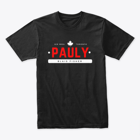 """The Pauly """"Classic"""" Black T-Shirt Front"""
