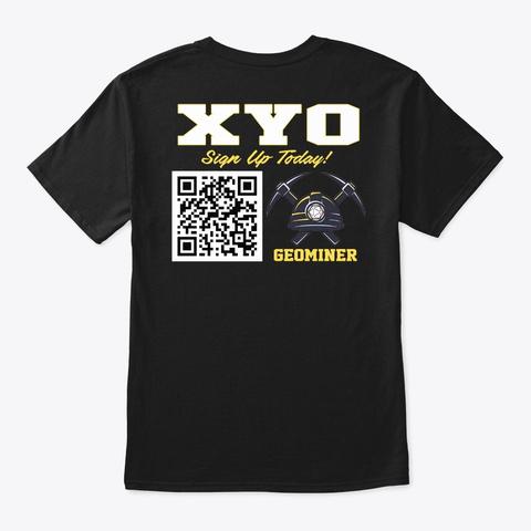 Xyo Qr Code T Shirt   Mbranco Black T-Shirt Back