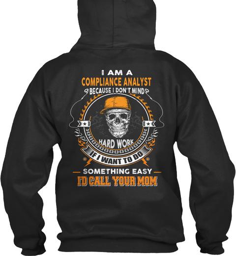 Compliance Analyst Jet Black Sweatshirt Back
