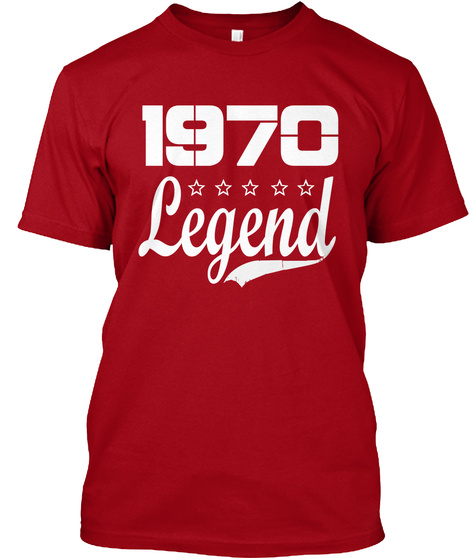 1970 Legend Deep Red T-Shirt Front