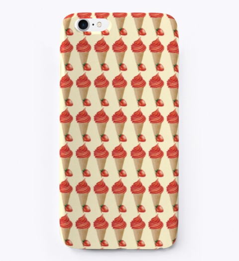 Iphone Case Of Ice Cream Light Yellow T-Shirt Front