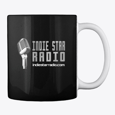 Official Indie Star Radio Coffee Mug Black T-Shirt Back