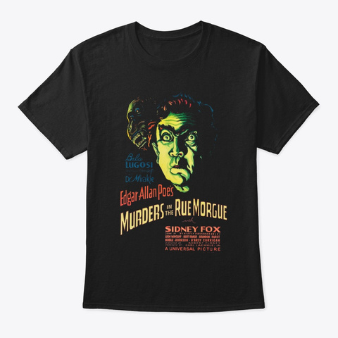 The Rue Morgue Black T-Shirt Front