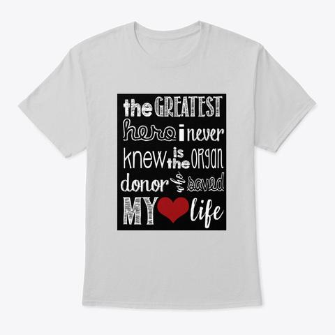 Greatest Hero Light Steel T-Shirt Front