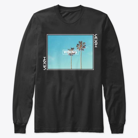 Vexah Palm  Black T-Shirt Front