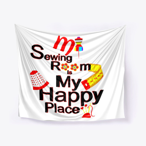 Betty Lop Designer My Sewing Room Happy White T-Shirt Front