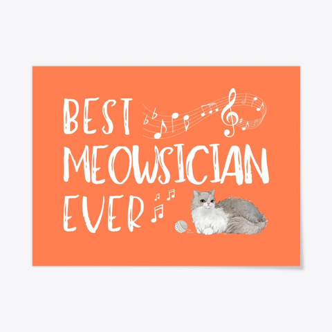 Awesome Musician Who Loves Cats Coral T-Shirt Front
