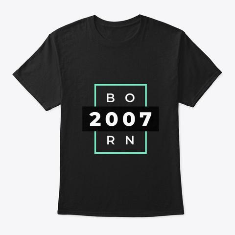 Born 2007 Black T-Shirt Front