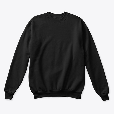 How Expert Classic Crewneck Sweater Black T-Shirt Front
