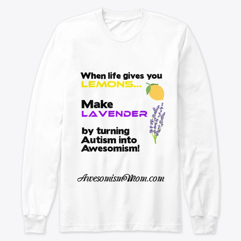 Lemons &Amp; Lavender White T-Shirt Front