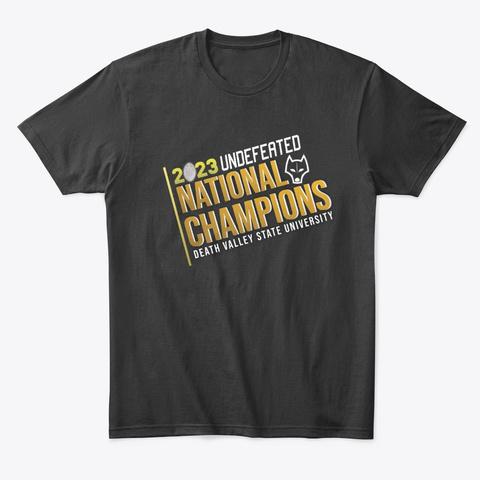 2023 Dvsu National Champs Black T-Shirt Front