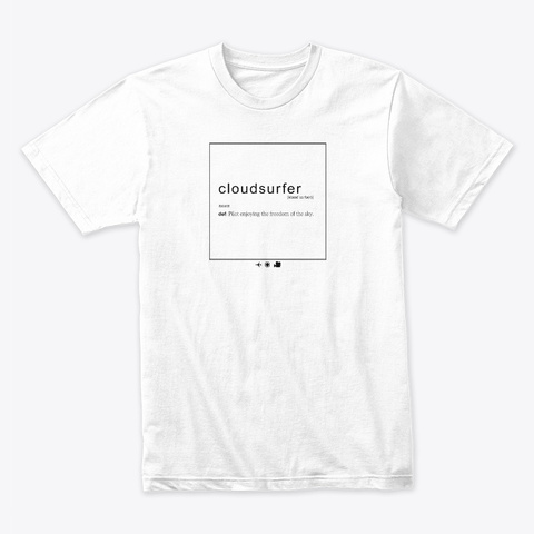 Cloudsurfer White T-Shirt Front