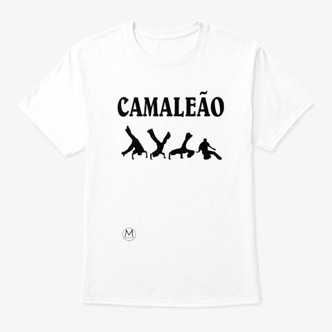 Camaleão Capoeira Movements White T-Shirt Front