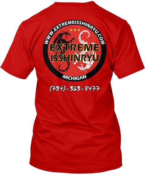 Www.Extremeisshinryu.Com Extreme Isshinryu Michigan (734) 363 8477 Classic Red T-Shirt Back