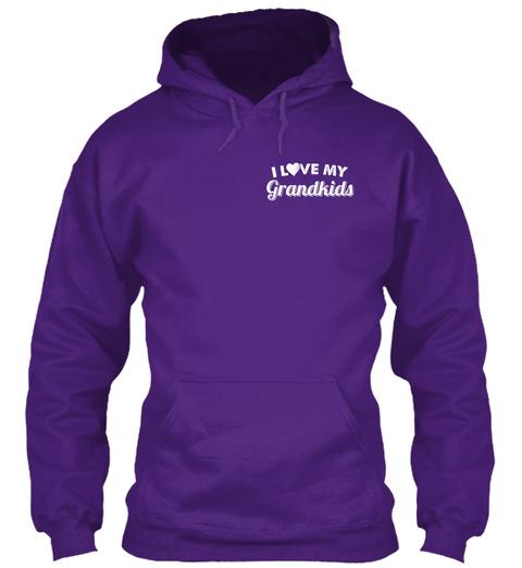 I Love My Grandkids Purple T-Shirt Front