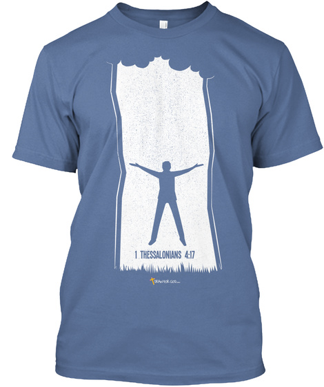 In The Clouds Denim Blue T-Shirt Front