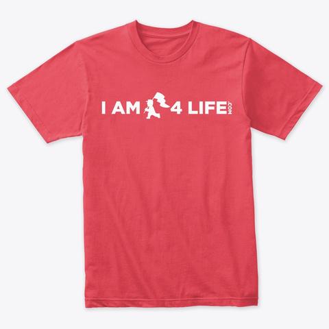 I Am 4 Life Vintage Red T-Shirt Front