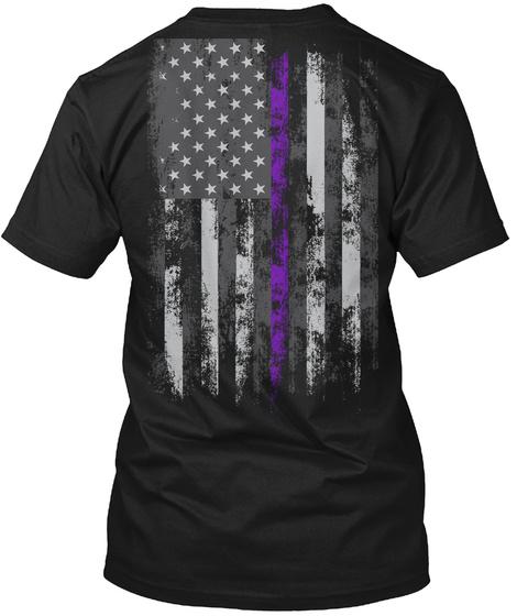 Epilepsy Awareness T Shirt! Black T-Shirt Back
