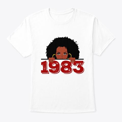 Black Queen 1983  36th Birthday Shirt White T-Shirt Front