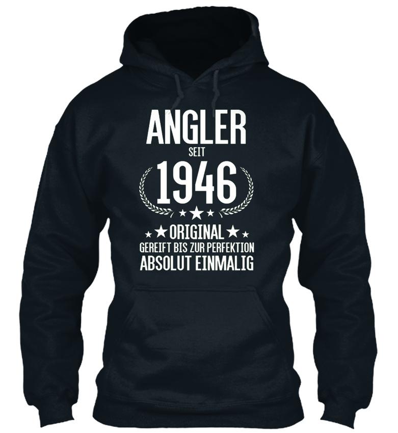 Angler-Seit-1946-Bequemer-Kapuzenpullover