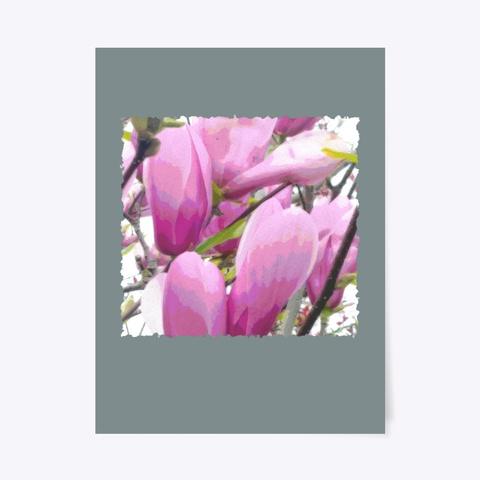 Blossoms Pastel Petals Light Purple  Medium Grey T-Shirt Front
