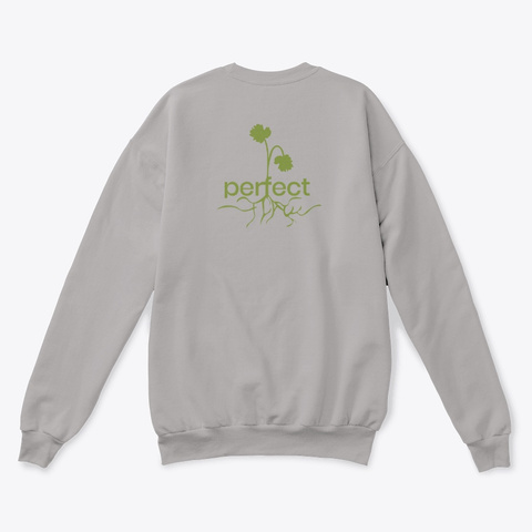"""""""Perfect Flaw""""   Sweater Light Steel  T-Shirt Back"""