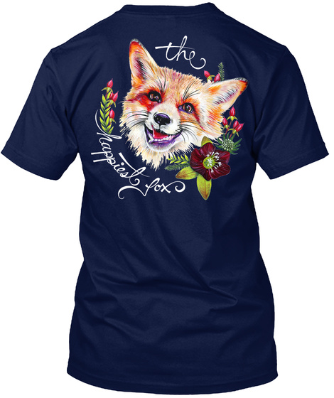 The Happiest Fox Navy T-Shirt Back