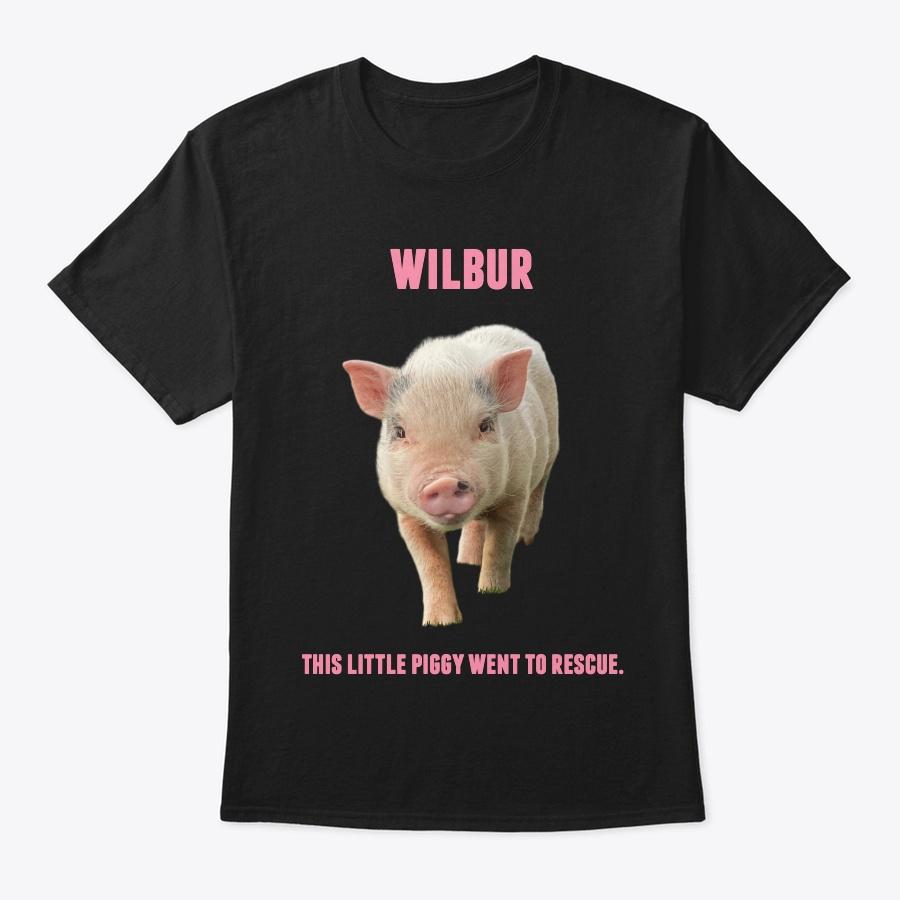WILBUR THE PIG  100+ ABANDONED DOGS Unisex Tshirt