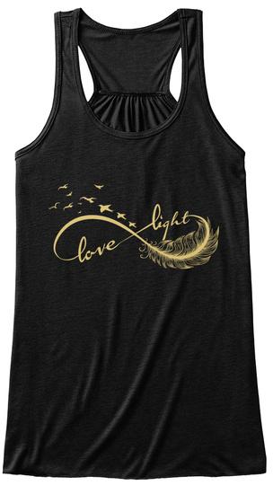 Love Light  Black T-Shirt Front