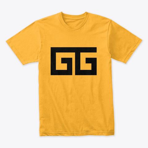 Game Gabster Logo   Gg Gold T-Shirt Front