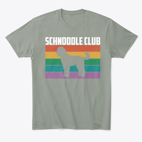 Funny Doodle Dog Owner Schnoodle Club Grey T-Shirt Front