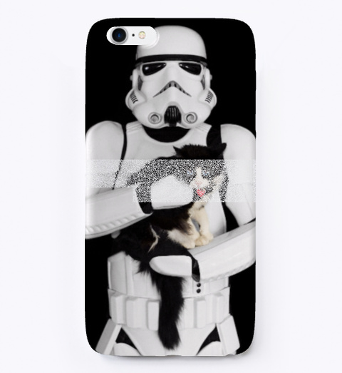 brand new 856e1 f61bc STORMTROOPER CAT iPHONE CASE