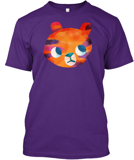 Tiniest Tiger Apparel For Grownups Purple T-Shirt Front