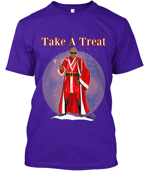 Take A Treat Team Purple T-Shirt Front