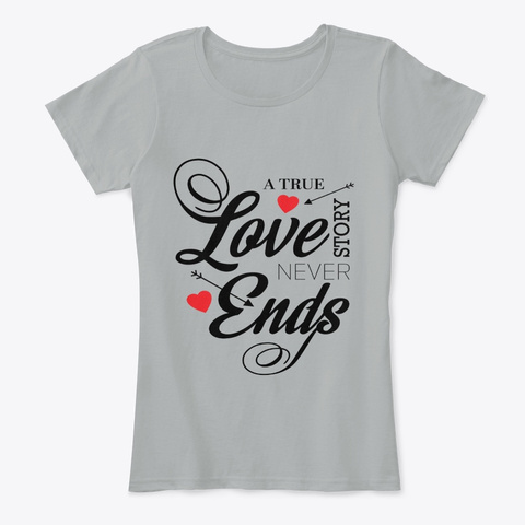 A True Love  Grey Women's T-Shirt Front