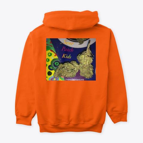 Jimmyinspaz Zz Sour Patch Kids Safety Orange T-Shirt Back