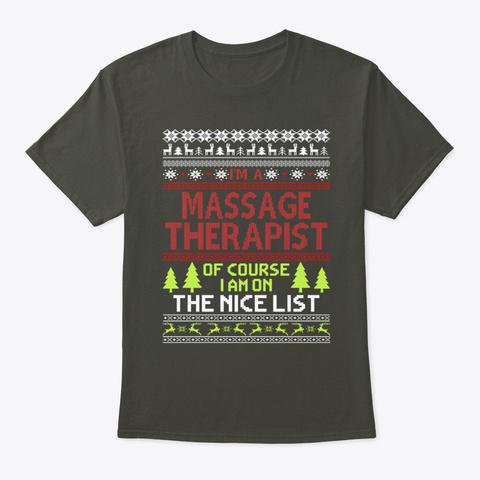 Ugly Christmas Massage Therapist Tee Smoke Gray T-Shirt Front