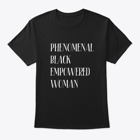 Pretty Black Educated Women Afro Queen Black T-Shirt Front